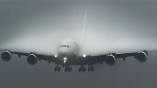 Condensation Clouds Form on the Wings of an Airplane - Video