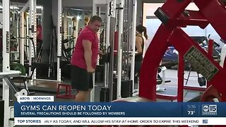 Gyms taking precautions to keep customers safe after reopening