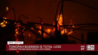Family restaurant in Tonopah destroyed in fire
