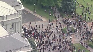 Crowds pushed away from State Capitol