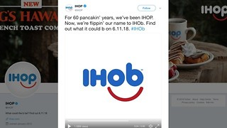 Is IHOP getting rid of pancakes? Changing name to 'IHOb'