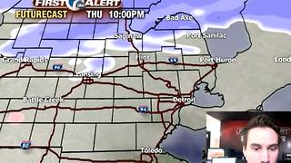 Snow to our north - Video