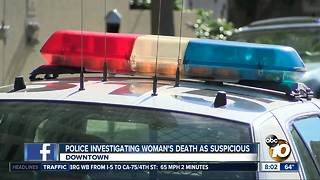 Police investigate woman's death as suspicious