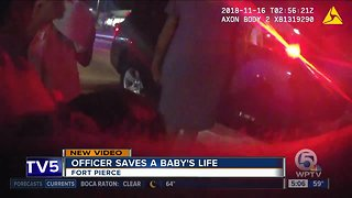 Bodycam video shows moments Fort Pierce officer save choking child