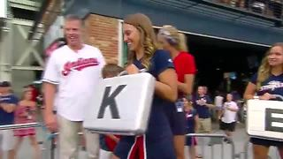 This reunion between a Coast Guard dad and his two sons at the Indians game will make your day - Video