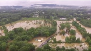 Drone Footage Shows Extent of Flooding in West Virginia