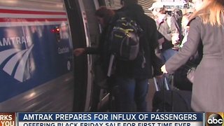 Amtrak prepares for influx of passengers, offering first-time Black Friday sale - Video