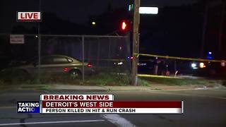 Person killed in hit-and-run crash on Detroit's west side - Video
