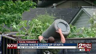 Greenwaste collection from tornado starts Monday - Video