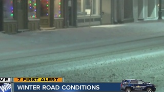 Winter weather makes for slippery road conditions - Video