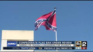 Carroll County Public Schools looking to ban Confederate flag clothing - Video
