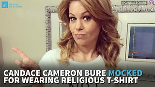 Candace Cameron Bure Mocked For Wearing Religious T-Shirt - Video