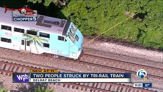 Two people struck by Tri-Rail train in Delray Beach - Video