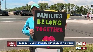 Rally held for detained migrant children