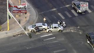 Two vehicle crash near Nellis, Desert Inn - Video