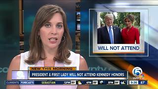 Trump will not attend Kennedy Center Honors