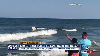 Small plane makes emergency landing just off the beach in Ocean City