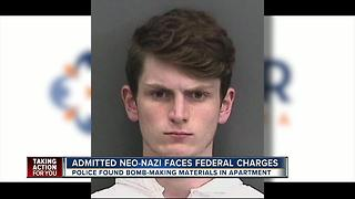 Admitted Neo-Nazi faces federal charges - Video