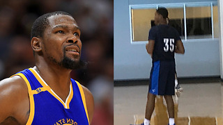 OKC Thunder TROLLS Kevin Durant with #35 Jersey - Video