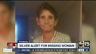 Silver Alert issued for missing woman in Phoenix