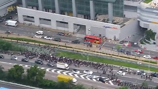 Thousands of protesters leave Hong Kong airport after forcing shutdown