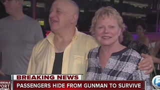 Passengers hide from gunman to survive - Video