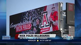 Nick Foles congratulated by U of A in Phoenix - Video