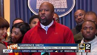Mayor Pugh honors Dunbar High School Football team - Video