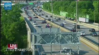 Emergency pavement repair shuts down left 2 lanes of I-43 northbound in Milwaukee County - Video