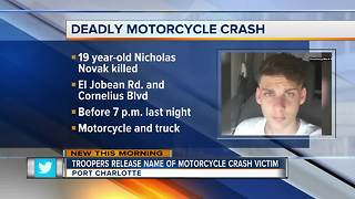 Fatal motorcycle crash in Port Charlotte Tuesday - Video