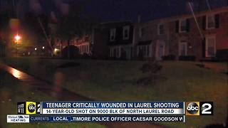 Laurel 14-year-old in critical condition after shooting - Video