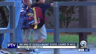 800 wing of Osceola Magnet School cleared of mold - Video