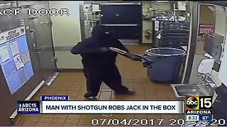 VIDEO: Masked man with shotgun robs Phoenix Jack in the Box - Video