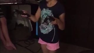 Young Girl Falls Trying To Play VR Game