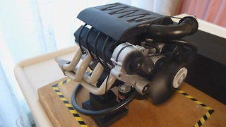 Homemade Electric V8 Engine Working Model - Overview - Video