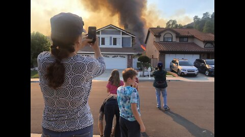 Chino Hills residents brace for incoming Blue Ridge Fire