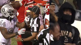 Marshawn Lynch Caught Watching in the Stands After Being Ejected for Shoving Referee - Video