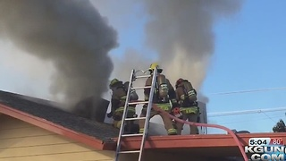 House fire displaces family of four on the south side - Video