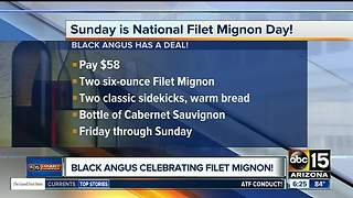 Black Angus offering filet mignon deal - Video