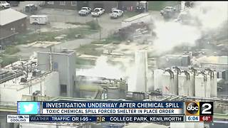 Investigation underway after acid spill in Baltimore - Video
