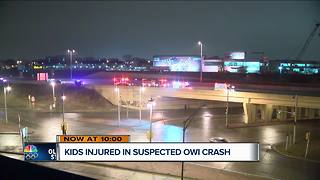 Milwaukee Sheriff: Two arrested after suspected drunk driving crash with 8 children in vehicle - Video
