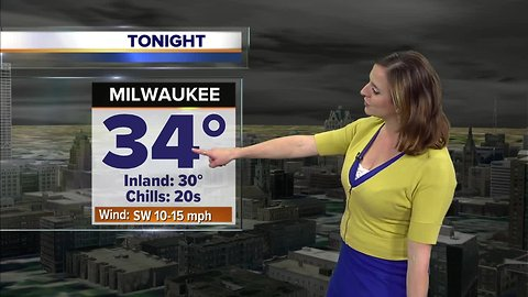 Clear, cold, and breezy Monday night