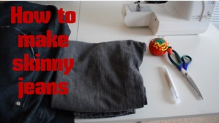 How to make skinny jeans - Video