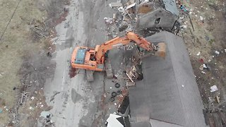 DRONE VIDEO: Hillside Motel demolished