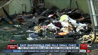East Bakersfield fire kills young child - Video