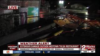 Storm damage to Midtown restaurant - Video