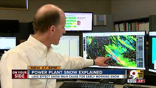 Did power plant cause school-canceling snow? - Video