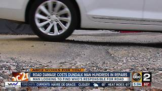 Road damage costs Dundalk man hundreds in repairs - Video