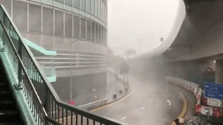Powerful Typhoon Haima Lashes Hong Kong - Video