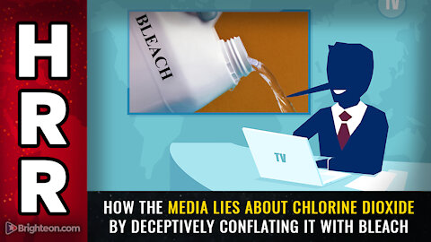How the media lies about chlorine dioxide by deceptively conflating it with bleach